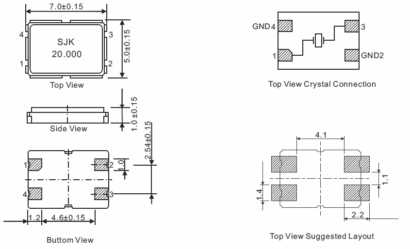 SMD-7050-Crystal-Dimensions