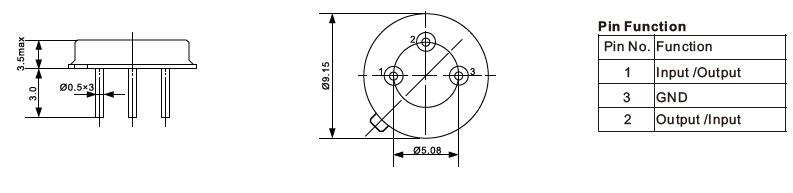 TO-39-SAW-Resonator-Dimensions